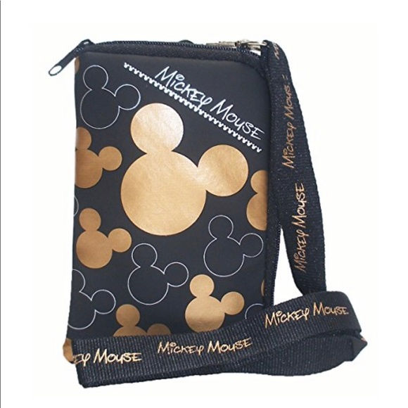 Disney Mickey Mouse Pochette Coin Pouch Bag Wallet Purse Snap Closure